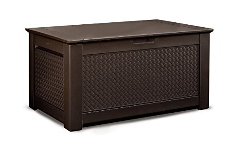 Rubbermaid-Patio-Chic-Plastic-Storage-Trunk-Dark-Teak-Basket-Weave-0