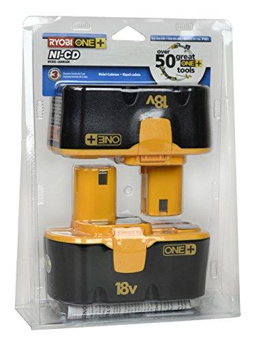 Ryobi P101 18-Volt One Plus Ni-Cd Batteries (2-Pack In Retail Package)