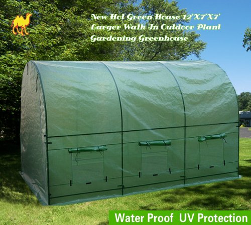 STRONG-CAMEL-New-Hot-Green-House-12X7X7-Larger-Walk-In-Outdoor-Plant-Gardening-Greenhouse-0-0