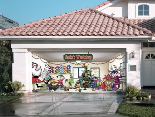 Santa S Workshop Outdoor Christmas Holiday Garage Door