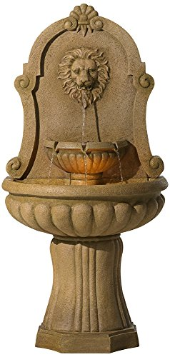 Savanna Lion 58″ High Indoor – Outdoor Floor Fountain – Farm ...