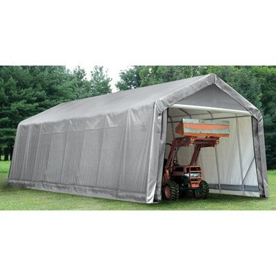 ShelterLogic-15-x-24-x-12-ft-Peak-Frame-Garage-Shelter-0