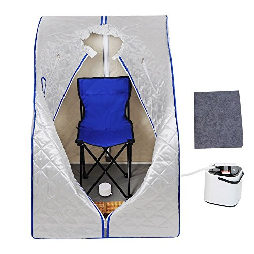 Silver 2l Portable Therapeutic Slimming Steam Sauna Tent