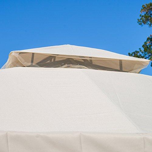 Sonoma Outdoor Iron Gazebo Canopy W Net Drapery Farm