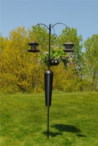 Squirrel-Stopper-SPB09-Shenandoah-Bird-Feeder-Post-w-3-Hanging-Stations-0