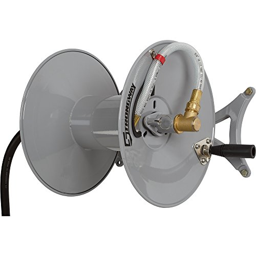 Strongway-Parallel-or-Perpendicular-Wall-Mount-Garden-Hose-Reel-Holds-150ft-x-58in-Hose-0-1