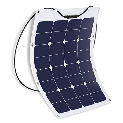 Suaoki-50W100W-18V-Solar-Panel-Charger-SunPower-Cell-Ultra-Thin-Flexible-with-MC4-Connector-Charging-for-RV-Boat-Cabin-Tent-CarCompatibility-with-18V-and-Below-Devices-0