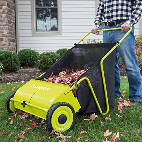 Sun Joe Manual Push Lawn Sweeper 0 1