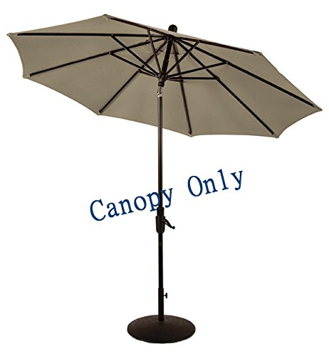 Sunbrella-Canopy-Replacement-for-9ft-8-Ribs-Patio-Umbrella-Taupe-Canopy-Only-0-0
