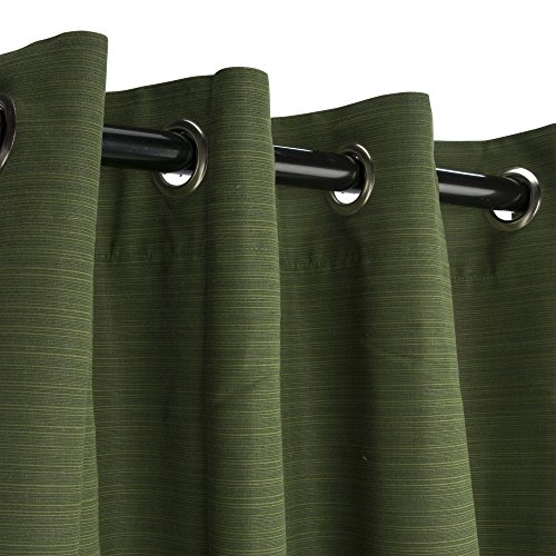 Sunbrella-Outdoor-Curtain-with-Nickel-Grommets-Dupione-Palm-0