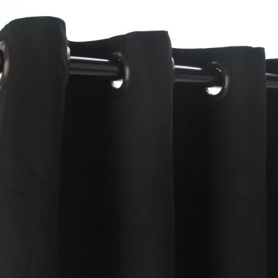 Sunbrella-Outdoor-Curtain-with-Nickle-Grommets-Black-50X84-0