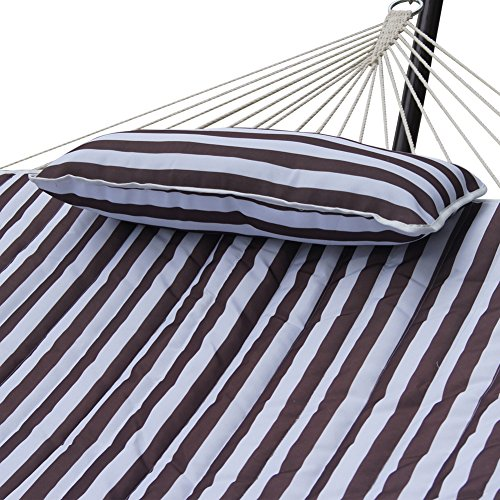 Sundale Outdoor Stripe Cotton Rope Hammock With 12 Feet