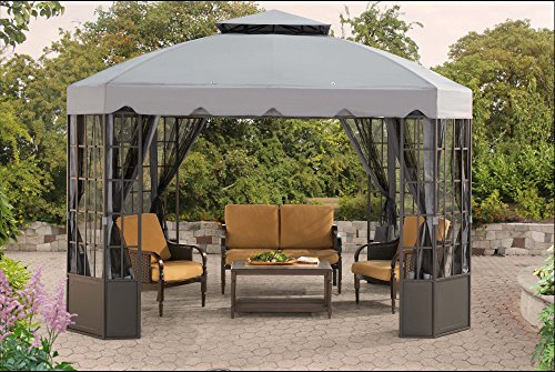 Sunjoy-L-GZ120PST-2L-118-x-98-Franklin-Bay-Window-Gazebo-Large-Gray-0-0