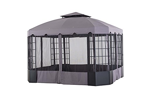 Sunjoy-L-GZ120PST-2L-118-x-98-Franklin-Bay-Window-Gazebo-Large-Gray-0-1