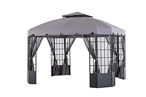 Sunjoy-L-GZ120PST-2L-118-x-98-Franklin-Bay-Window-Gazebo-Large-Gray-0