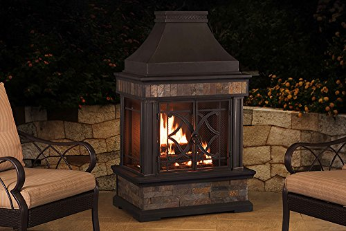 Outdoor Chimney Parts : Sunjoy l of pst a ″ elson slate and