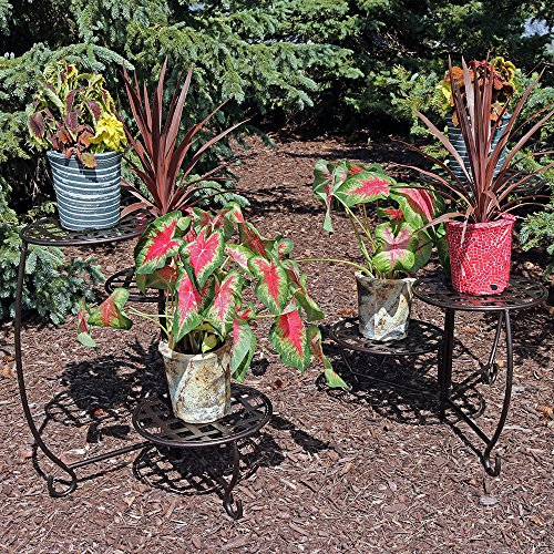 Sunnydaze-Bronze-Checkered-Triple-Planter-Stand-Set-of-2-0-0