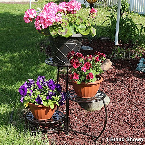 Sunnydaze-Bronze-Checkered-Triple-Planter-Stand-Set-of-2-0-1