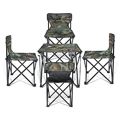 Super-Convenient-Set-Camping-Bundle-Contains-4-units-Quad-Chairs-1-unit-Table-by-JD-Outdoor-Depot-Assorted-Colors-0