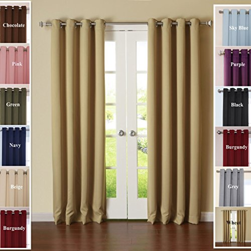 TWOPAGES-Solid-120-inches-Width-Stainless-Steel-Nickel-Grommet-Triple-Weaved-Polyester-Curtains-Drapes-1-Panel-0