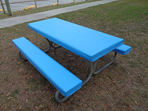 table glove fitted marine grade vinyl fitted picnic table cloth or table cover sets u2013 fits 6 foot tables u2013 multiple colors u2013 hand made in united