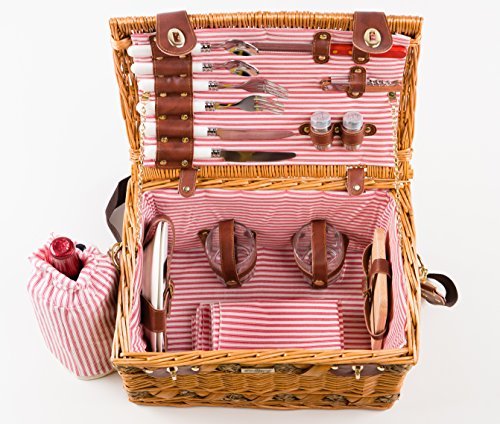 Tan-Colored-Willow-And-Seagrass-Picnic-Basket-0-0