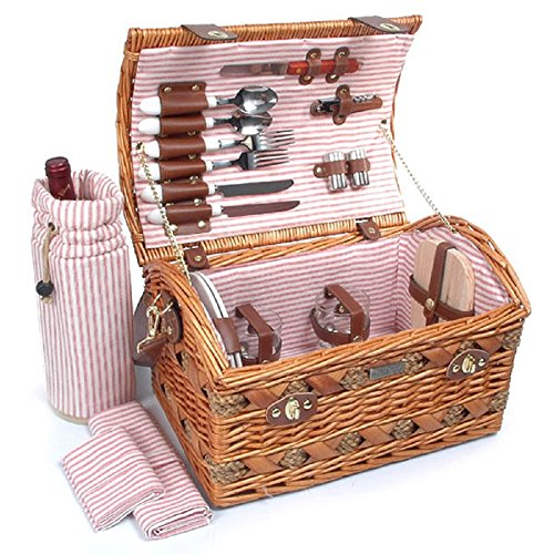 Tan-Colored-Willow-And-Seagrass-Picnic-Basket-0