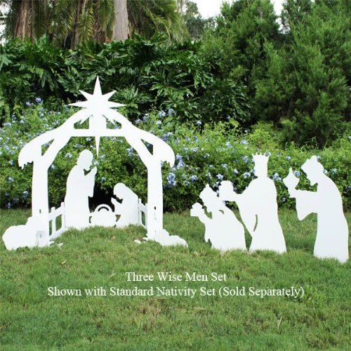 Teak-Isle-Christmas-Outdoor-3-Wise-Men-Nativity-Figures-0-0