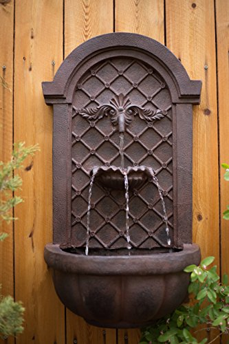 The Manchester Outdoor Wall Fountain Weathered Bronze