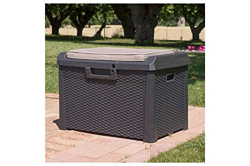 Toomax-Santorini-Plus-Brown-33-Gallon-Cushioned-Outdoor-Deck-Box-With-WeatherUV-Resistant-Wicker-Style-Exterior-Can-Be-Padlocked-Italian-Made-0-0