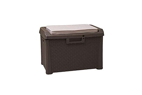 Toomax-Santorini-Plus-Brown-33-Gallon-Cushioned-Outdoor-Deck-Box-With-WeatherUV-Resistant-Wicker-Style-Exterior-Can-Be-Padlocked-Italian-Made-0