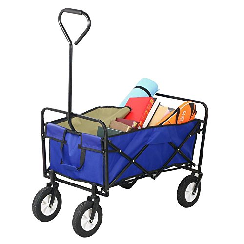 Topeakmart-Folding-Wagon-Utility-Garden-Cart-Beach-Shopping-Wagon-0