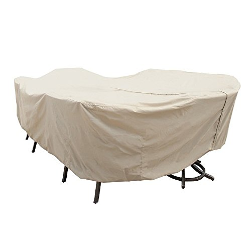 Treasure-Garden-X-Large-OvalRectangle-Table-Chairs-w8-ties-velcro-closure-Protective-Furniture-Covers-0