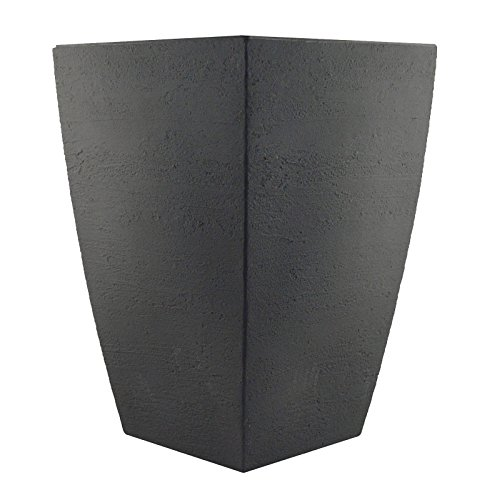 Tusco-Products-MSQT23SL-Modern-Square-Garden-Planter-23-Inch-Slate-0