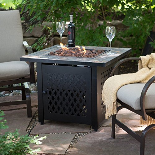 Catalina 30 Inch Durable Copper Fire Pit Set Including