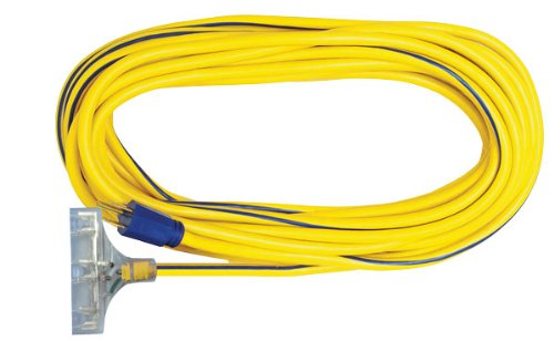 Voltec-05-00125-123-SJTW-Outdoor-Power-Block-Extension-Cord-with-Lighted-End-100-Foot-Yellow-with-Blue-Stripe-0