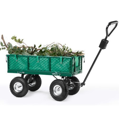 VonHaus-All-Terrain-Heavy-Duty-Garden-Cart-770lbs-Load-Capacity-Folding-Sides-and-10-inch-Off-Road-Tires-0
