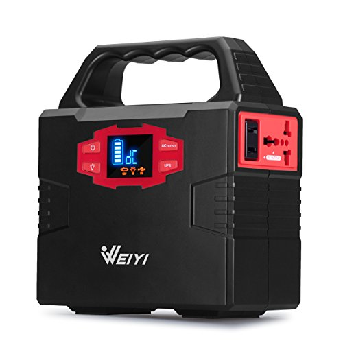 WEIYI-Portable-Power-Station-Power-Inverter-Generator-Gas-free-With-Outputs-AC-110V-Max-151Wh-2USB-35A-3DC-12V15A-Built-in-Battery-Capacity-40800mAhBlack-0
