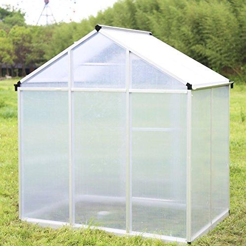 Walcut-Magic-Garden-Series-Walk-in-Aluminum-Greenhouse-Silver-0-0