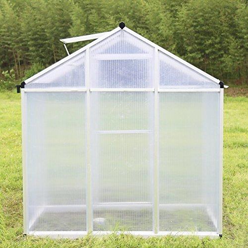 Walcut-Magic-Garden-Series-Walk-in-Aluminum-Greenhouse-Silver-0-1