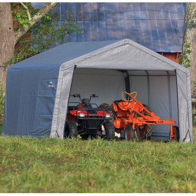 Weather-Resistant-Peak-12-Ft-W-x-12-Ft-D-Shed-ShelterLogic-Gray-0