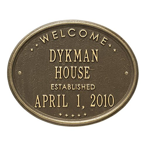 Welcome-Oval-House-Established-House-Plaque-Two-Line-Antique-Brass-0