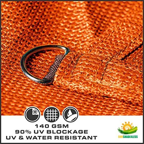 Windscreen4less 16 X 20 Sun Shade Sail Rectangle Canopy In Orange