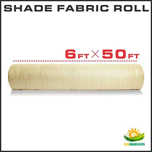 Windscreen4less-Shade-Fabric-Roll-95-Uv-Block-6x50-Beige-Tan-0