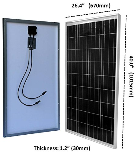 Windy-Nation-100-Watt-Solar-Panel-Complete-Off-Grid-RV-Boat-Kit-with-LCD-PWM-Charge-Controller-Solar-Cable-MC4-Connectors-Mounting-Brackets-0-0