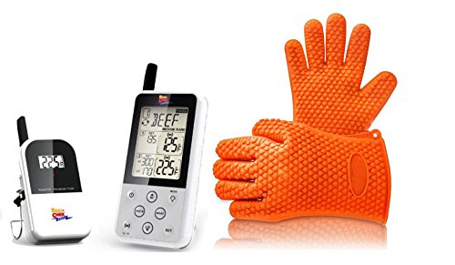 Wireless-Digital-Meat-Thermometer-Set-with-BONUS-BBQ-Grilling-Gloves-Maverick-ET-733-Long-Range-Dual-Probe-0