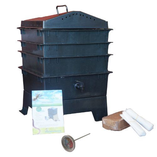 Worm-Composter-with-Free-Thermometer-3-tray-Black-0