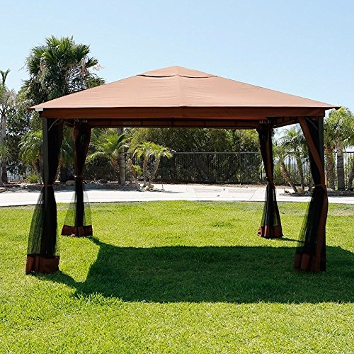 Terrace gazebo replacement canopy riplock 350 farm for Terrace gazebo