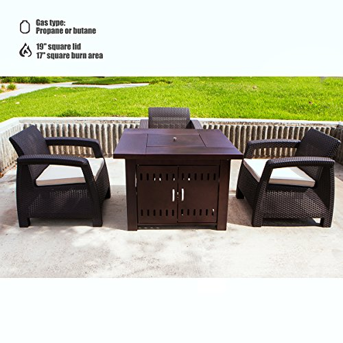 XtremepowerUS-Out-door-Patio-Heaters-LPG-Propane-Fire-Pit-Table-Hammered-Bronze-Steel-Finish-0-0
