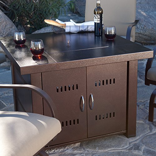 XtremepowerUS-Out-door-Patio-Heaters-LPG-Propane-Fire-Pit-Table-Hammered-Bronze-Steel-Finish-0-1